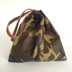Amazing Camouflage Leather Tote bag Green Leather by sord on Etsy