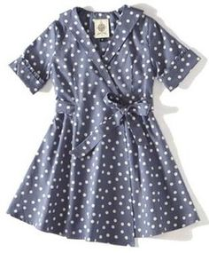 Dotted housedress for little girls.  I don't think my urban little girl could rock this, but I totally could.
