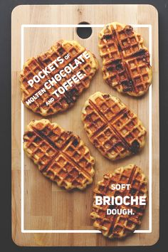 More waffles!! MMMM toffee in a waffle??? The possibilities are endless.