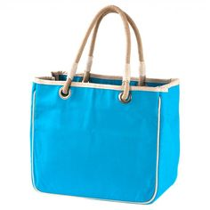 Rope Tote Bag, Turquoise