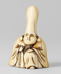 - A large ivory netsuke of a smiling Fukurokuju. century - Lot 664 - Result: - Find all details for this object in our online catalog! Online Katalog, Edo Era, Japanese Characters, Art Object, Chinese Style, Asian Art, 18th Century, Art Pieces, Ivory