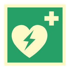 AED Hjertestarter - Kjøp Nødskilt online Astros Logo, Team Logo, Company Logo, Logos, Logo