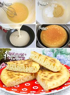 ✿ ❤ ♨ Recipe for Unleavened Pan Bread // Ingredients: 1 egg, 1 cup of water, 2 tablesp Turkish Recipes, Ethnic Recipes, Bread Ingredients, Pan Bread, Recipe Sites, Easter Recipes, Diy Food, No Cook Meals, Family Meals