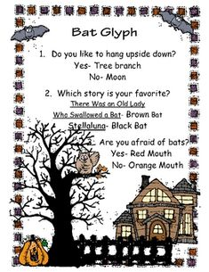 This is a great activity to complete when studying nocturnal animals or bats. Math is incorporated into science for cross curricular study. The Glyph was created by Pam Greening, Overall Success. Halloween Math, Halloween Activities, Autumn Activities, Halloween Themes, Halloween Stuff, Viking Symbols, Mayan Symbols, Egyptian Symbols, Viking Runes