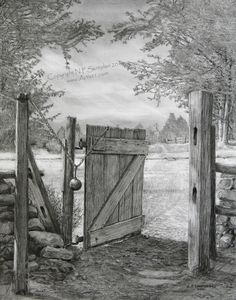 Image detail for -The Gate art print by Nicholas Santoleri, pencil drawing