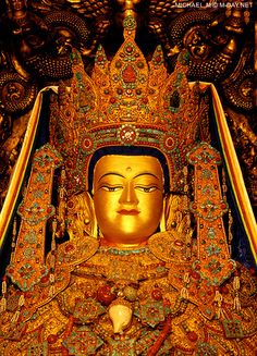 中國西藏拉薩大昭寺本師釋迦牟尼佛十二歲等身像