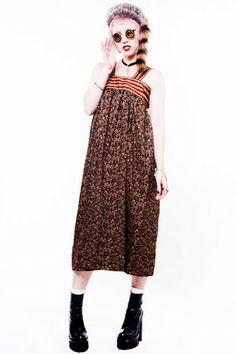 1970s Summer Sun Dress - XS/S