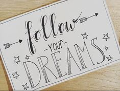 #followyourdreams #handlettering