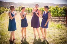 Napa Valley Wedding by Elle Photography Mismatched Bridesmaid Dresses, Wedding Bridesmaids, Ring Boy, Napa Valley, Girl Power, Wedding Inspiration, Wedding Ideas, High Neck Dress, Summer Dresses