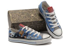 8fc268714225 Converse The Avengers Edition Thor Printed Blue Low Tops Canvas Shoes