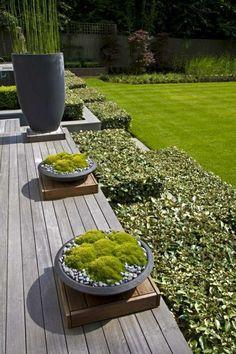 100 Bilder zur Gartengestaltung – die Kunst die Natur zu modellieren - gartendesign grüne in platten deko kies