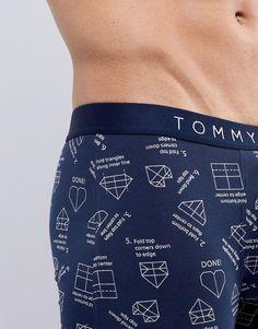 Tommy Hilfiger Trunks Origami Valentine in Navy at ASOS. Men's Boxer Briefs, Fashion Online, Tommy Hilfiger, Latest Trends, Trunks, Underwear, Asos, Adidas, Navy