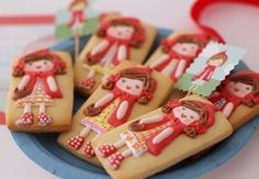 Postreadicción galletas decoradas, cupcakes y pops: Kit de fiesta de Caperucita Roja