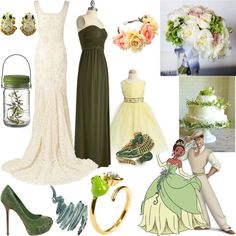 """princess and the frog wedding"" by thaliagirl ❤ liked on Polyvore"