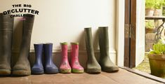 Here are some clever ways to declutter and organise your country house boot room, including boot room storage solutions. Kitchen Organization, Kitchen Storage, Boot Room Storage, Organizing Your Home, Hunter Boots, Declutter, Storage Solutions, Laundry Room, Rubber Rain Boots