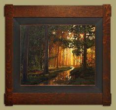 Jan Schmuckal | Original Oil | Tonalism | Dard Hunter Studio Frame | Arts and Crafts | Bungalow