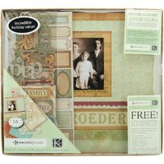 K Ancestry 12-by-12-Inch Scrapbook Kit