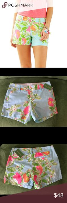 NWT Lilly Pulitzer Callahan short pink lemonade 5in inseam Lilly Pulitzer Shorts
