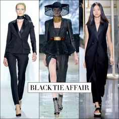 Reinvented adaptations on the tux maintains the classic's tailored rep while lending a chic update. From a feminine interpretation at Dior to a vested look at Celine and a skirted version at Alexander McQueen that's basically the bee's knees — it's the ideal meld of homme-femme.