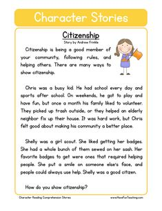 This Reading Comprehension Worksheet - Work Ethic is for teaching reading comprehension. Use this reading comprehension story to teach reading comprehension. First Grade Reading Comprehension, Reading Fluency, Reading Passages, Reading Strategies, Comprehension Strategies, Reading Response, Values Education, Character Education, Education College