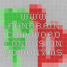 www.funbrain.com word confusion- homonyms
