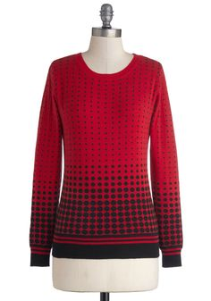 Everything's Coming Up Roslyn Sweater. If you like to keep your wardrobe as wonderfully effervescent as your spirit, then we suggest pulling on this darling red sweater. #red #modcloth