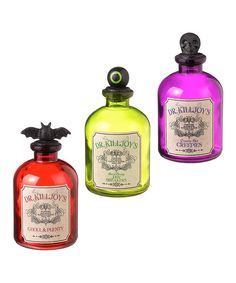 Take a look at this Black Magic Potion Bottle Set on zulily today!