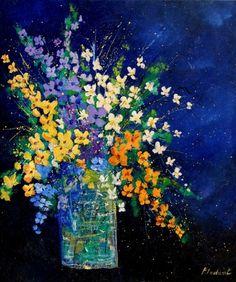 flowers 670140, painting by artist pol ledent