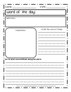 Word of the Day template