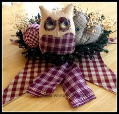 Table Centerpieces, Table Accents, Prim Items, Owl Decor, Cottage Chic, Country Decor, Candle Holders, Handmade Gifts, Rustic Decor