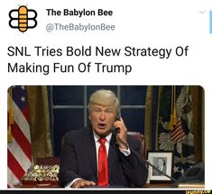 SNL Tries Bold New Strategy Of Making Fun Of Trump – popular memes on the site iFunny.co #saturdaynightlive #tvshows #snl #tries #bold #new #strategy #of #making #fun #trump #pic