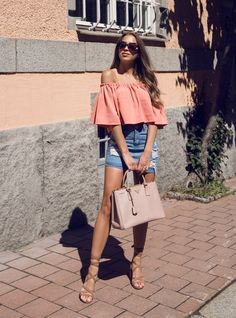 Top 45 essential off the shoulder looks Cute Summer Outfits, Short Outfits, Sexy Outfits, Pretty Outfits, Spring Outfits, Girl Outfits, Casual Outfits, Cute Outfits, Fashion Outfits