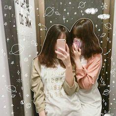 Foto Best Friend, Best Friend Photos, Ulzzang Couple, Ulzzang Girl, Bff Girls, Korean Best Friends, Girl Couple, Korean Couple, Avatar Couple