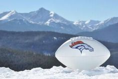 My next snow day activity-  make a Denver Broncos Football instead of a snowman
