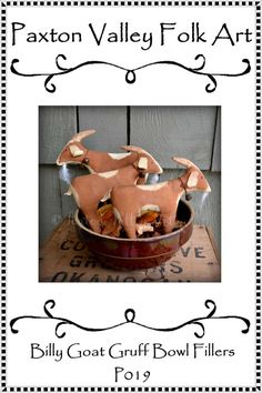 #goatvet says she must make these E Pattern Billy Goat Gruff Bowl Fillers Instant Download For Three Billy Goat Stash Abouts Pattern