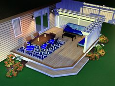 Privacy wall and Pergola combination Pvc Decking, Privacy Walls, Northern Michigan, 3 D, Pergola, Layout, Group, Mansions, Facebook