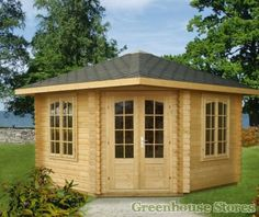 Palmako Renate Log Cabin from Greenhouse Stores with free UK home delivery.  http://www.greenhousestores.co.uk/Palmako-Renate-Log-Cabin.htm