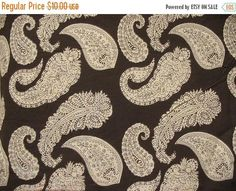 Flat 40% Off Paisley Print Cotton Fabric With Single Side