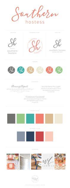 Southern Hostess Visual Branding Design by AllieMarie Design