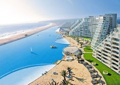 You can take small sailboats out on the saltwater pool at San Alfonso del Mar, in Algarrobo, Chile. The pool measures two-thirds of a mile in length—Guinness World Records calls it the largest in the world. (From: World's Most Amazing Hotel Pools).