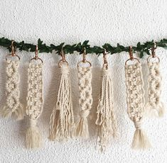 These macrame buddies are ready to hang out on your key chain or on your favorite bag! Finished products will vary slightly from the pictures shown here. All styles are made out of 100% natural cotton rope. Please see product photos for individual details. When ordering, product names
