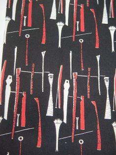 >Lucienne Day 'Spectators' design in black. Pattern Dots, Doodle Pattern, Pattern Texture, Pattern Design, Geometric Patterns, Textile Patterns, Abstract Pattern, Print Patterns, Mid Century Modern Art