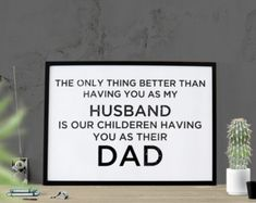 Father's Day Gift Husband Dad Poster Instant Download Husband Poster Print Dad Gift for Dad Gift for Fathers For Him Men Cave Printable Art