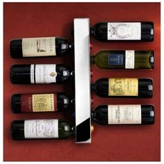 The Vertical Wine Rack | 33 Insanely Clever Things Your Small Apartment Needs