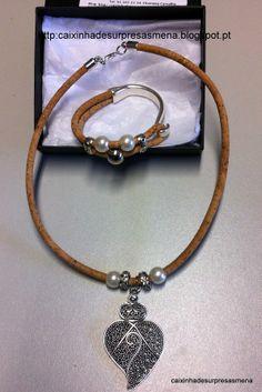 Cork bracelet (7,5€) and necklace with portuguese Viana heart- (10€)http://caixinhadesurpresasmena.blogspot.pt/ Cork bracelet (Portugal)= 7,5€. caixinhadesurpres... .(¯`v´¯) `*.¸.*´ ¸.•´¸.•*¨) ¸.•*¨) (¸.•´ (¸.•´ .•´ ¸¸.•¨¯`*