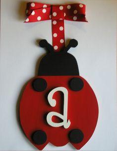 Ladybug Wooden Wall Letters Red/Black Ladybug Decor Hanging Wall Letter - Customized  SOLD PER LADYBUG. $15.98, via Etsy.