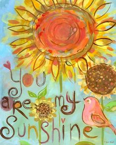 """You Are My Sunshine"" - Canvas Wall Art from Oopsy daisy, Fine Art for Kids"