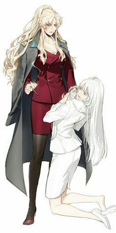Two of my favorite anime characters? Balalaika Black Lagoon, Revy Black Lagoon, Black Lagoon Anime, Gangsters, Jormungand Anime, Character Art, Character Design, Real Anime, Anime Military