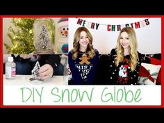 ▶ DIY Gift/Decor - Snow Globe! | eleventhgorgeous - YouTube