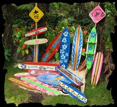 Original Made in Hawaii Decorative Surfboards, Decorative Surf Art, and Island Decor.